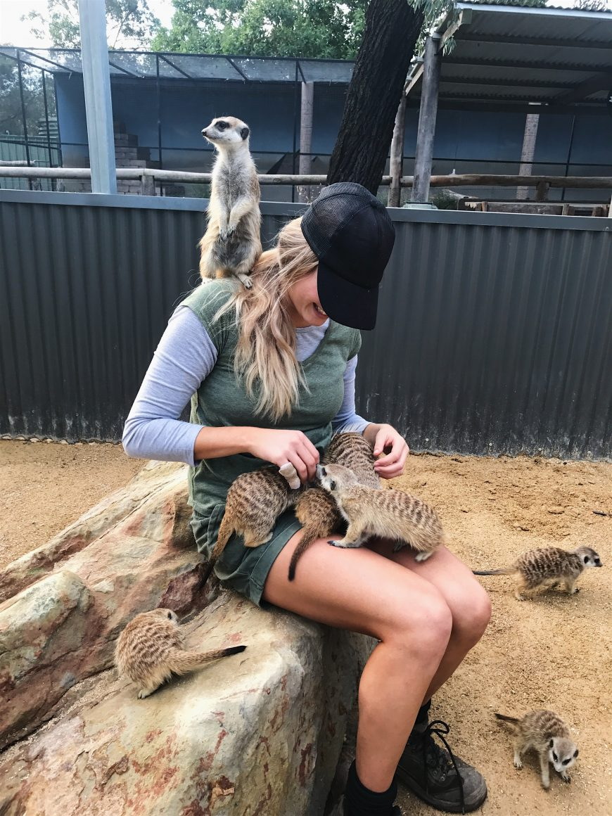 Gabrielle Keaton's reward for her volunteer work at the Hunter Valley Zoo