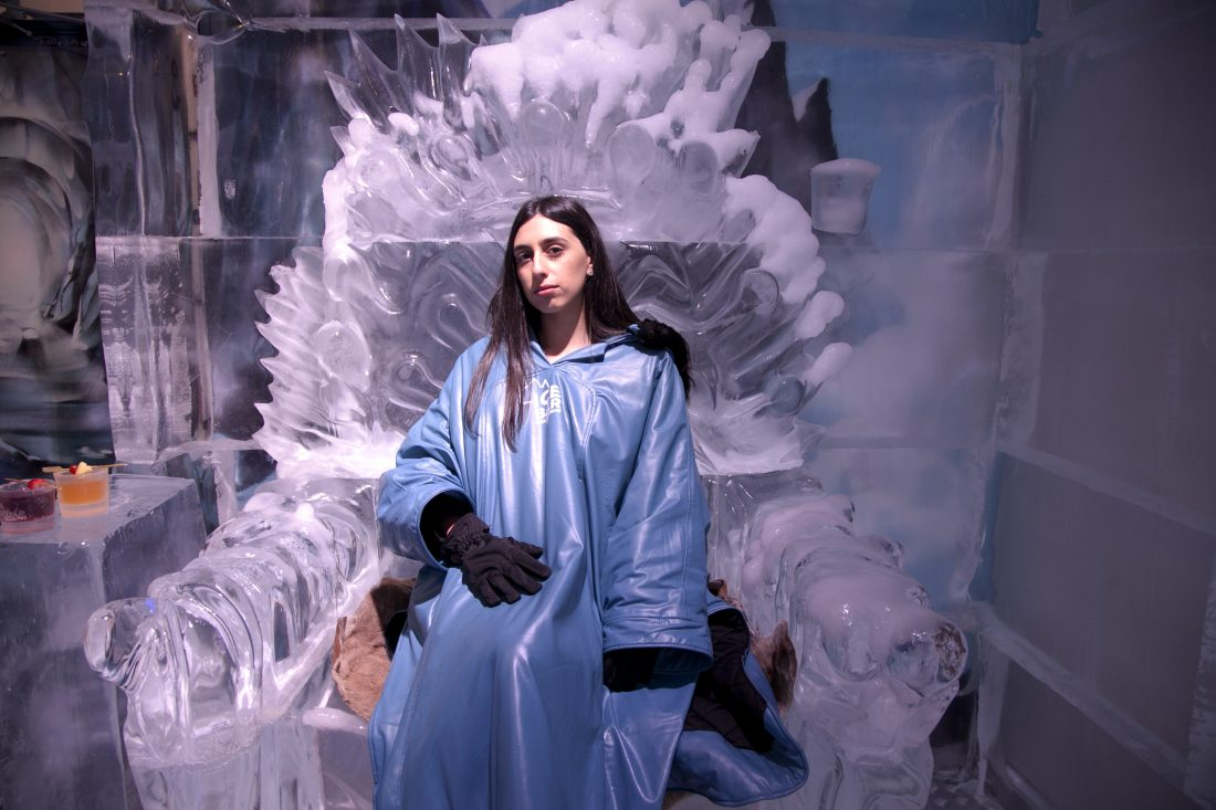 Talia Simone at Melbourne Ice Bar